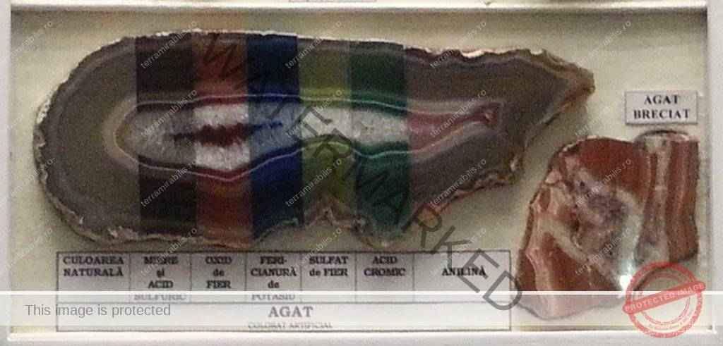 Agat colorat artificial - Antipa