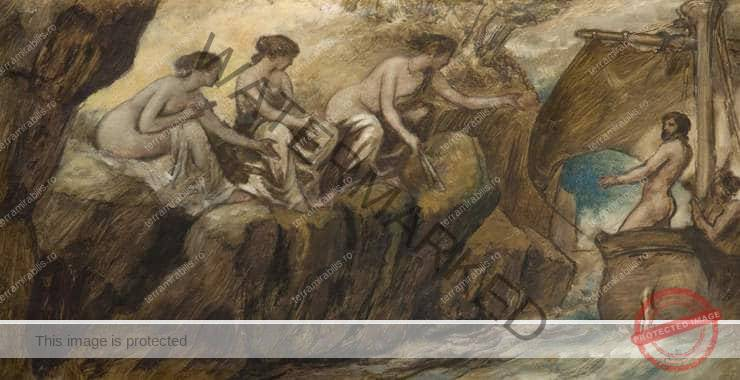 Edward Calvert – Ulysses and the sirens (sec. XIX)