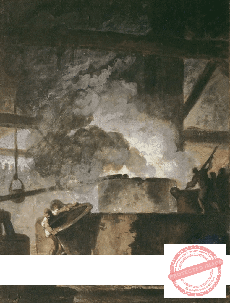 The saltpeter works - Louis Jean Jacques Durameau